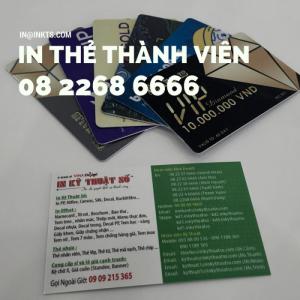 In Thẻ Thành Viên Giá Rẻ TPHCM