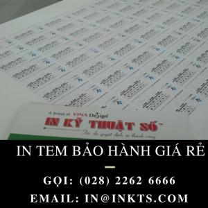 In Tem Bảo Hành Giá Rẻ TPHCM