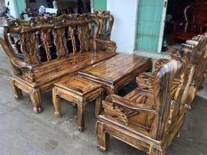 Bàn ghế gỗ phòng khách đẹp hiện đại