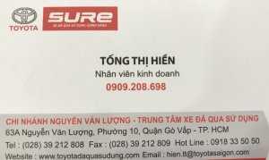Toyota Đông Sài Gòn - Used Car CN Nguyễn Văn Lượng