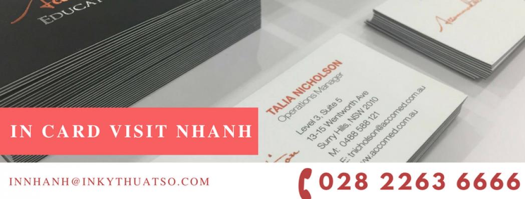 In Card Visit Nhanh