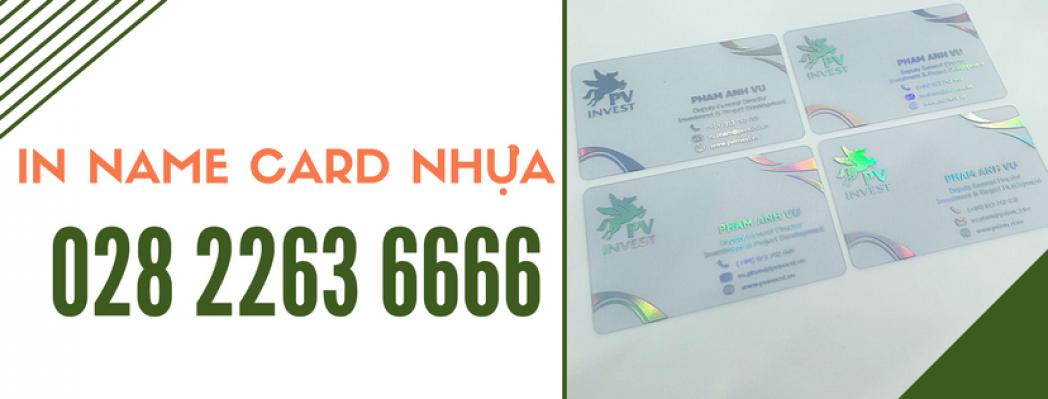 In Name Card Nhựa