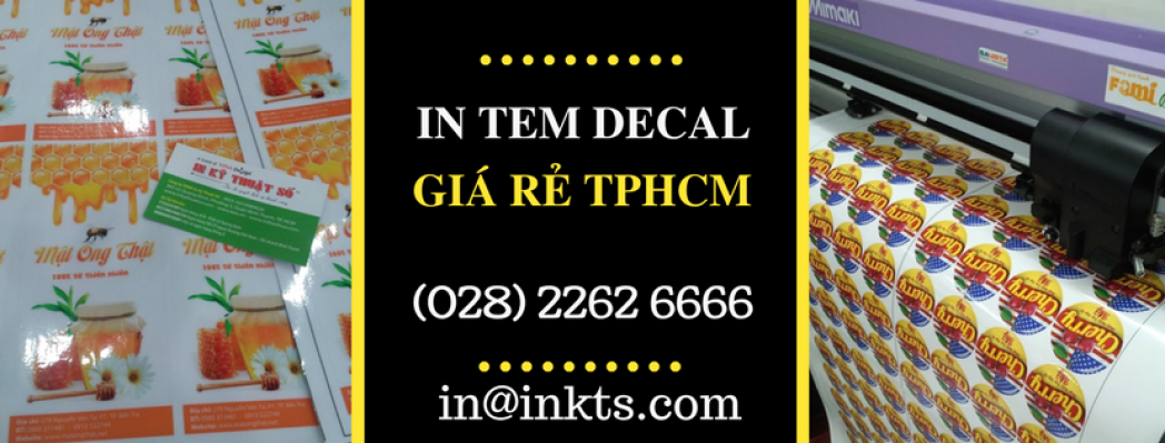 In Tem Decal Giá Rẻ TPHCM