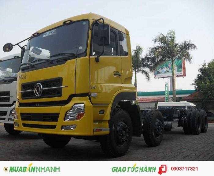 Xe tải DongFeng 4 chân nhập khẩu giá cạnh tranh. Gía bán xe tải DongFeng L315 Hoàng Huy