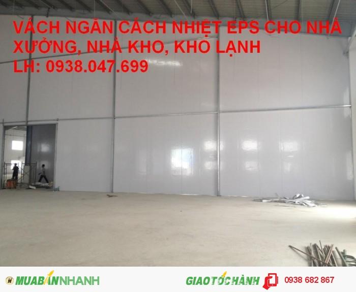 Panel eps cách âm cách nhiệt 3 lớp tại TPHCM, Bình Dương, Đồng Nai, Bình Phước, Tây Ninh