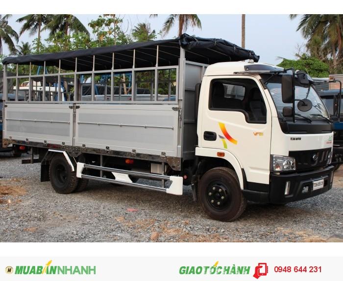 Xe tải 5 tấn khuyến mãi lệ phí trước bạ VT490 thùng dài 6.2 mét