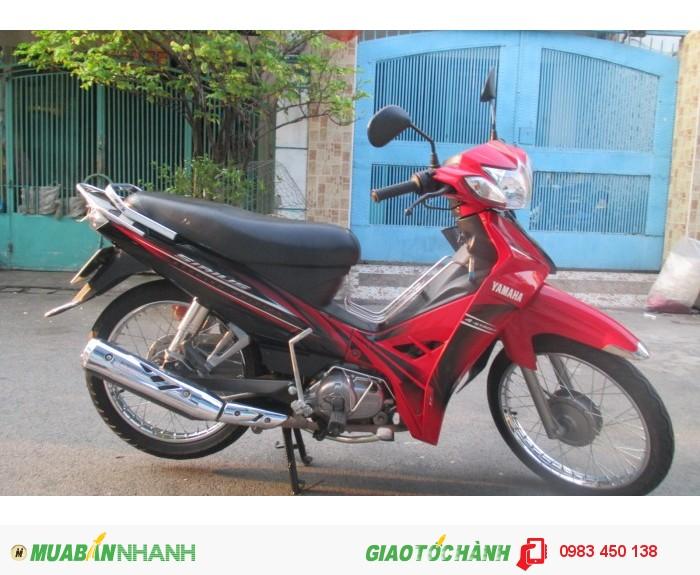Xe Yamaha Sirius stylish edition, đỏ đen, hình thật