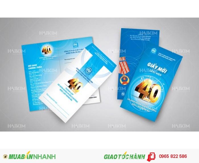 In giấy mời, thư mời, thư khuyến mại, thẻ quà tặng, thiệp chúc mừng, phiếu voucher giảm giá