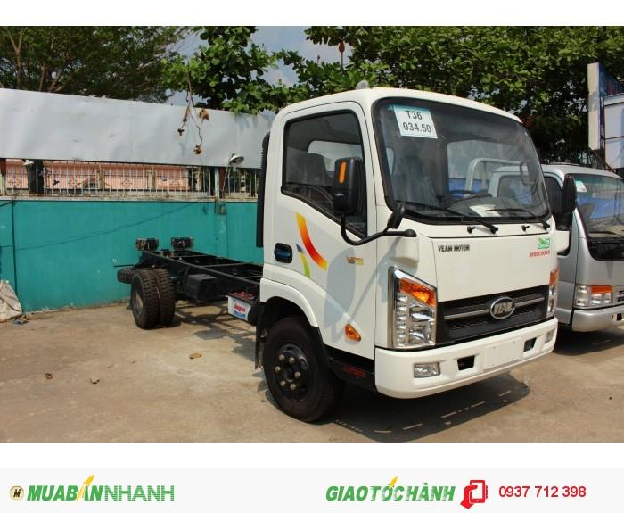 Gía xe tải Veam Vt250 2.5 tấn/2T5 máy Hyundai trả góp giá rẻ 2