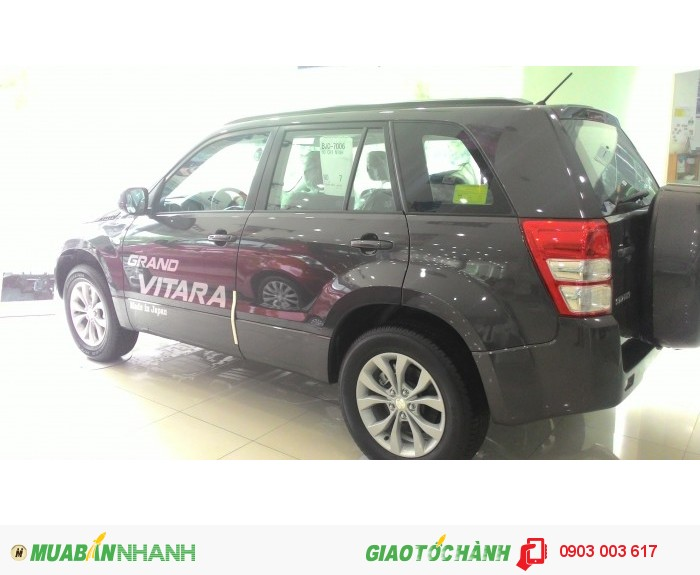 Cần bán Suzuki Grand Vitara xám 2015, xe nhập khẩu. giá chỉ 869tr