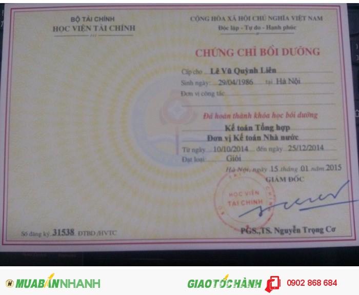 Nơi học chứng chỉ kế toán viên hành chính sự nghiệp tại Hà Nội, TP HCM