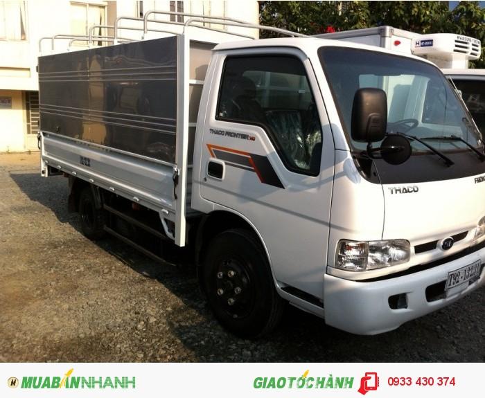 Bán Xe tải Thaco Frontier 140 (Thùng Mui Bạc Đóng Từ Thùng Lửng), cho vay trả góp
