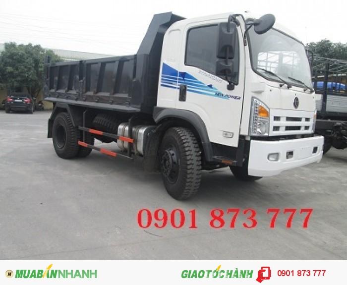 Đại lý xe ben Dongfeng Trường Giang 3 chân, Dongfeng Ben 14 tấn 3 giò 2 cầu thật,Mua xe ben Dongfeng