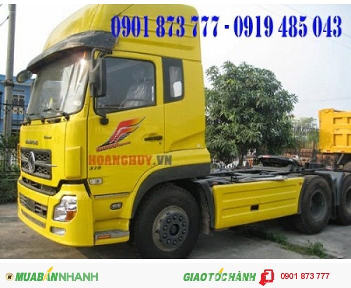 Xe đầu kéo Dongfeng Hoàng Huy 3 chân máy 375 nhập khẩu, Giá xe đầu kéo Dongfeng Hoàng Huy L375 máy Cummins nhập khẩu