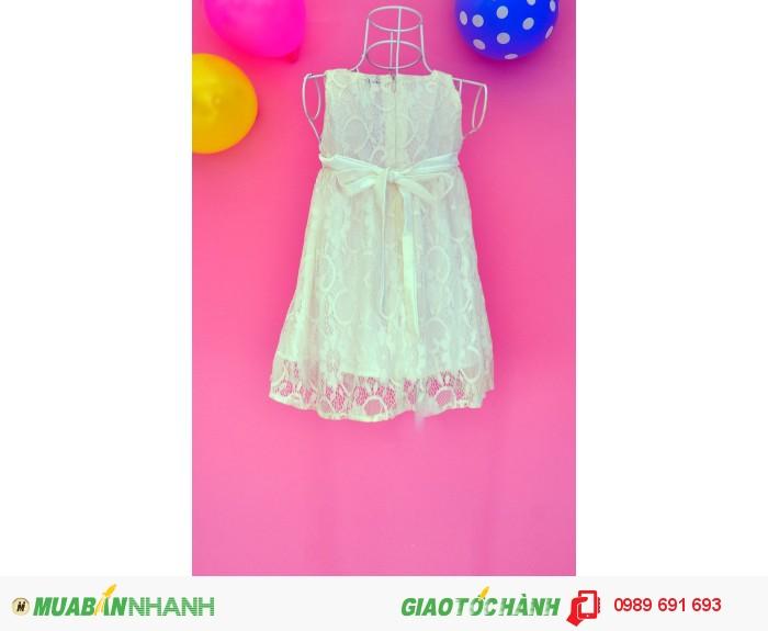 Đầm ren bông hồng trắng1