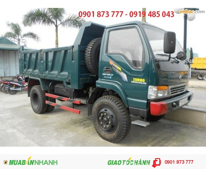 CHuyên bán xe tải Ben Chiến Thắng 6 tấn 5 khối, Giá xe tải tự đổ CHiến Thắng 6T 5m3 thùng cao 6.5 tấc.