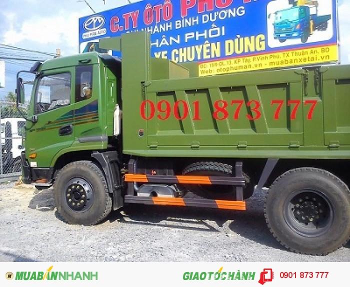 Xe ben Dongfeng Trường Giang 3 chân 14T, Ben Dongfeng 14 tấn 11.6 khối 3 giò 2 cầu thật