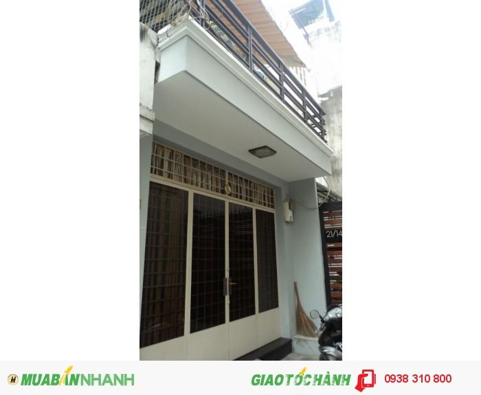Bán nhà hẻm 6M Nguyễn Xí, P.26, Q.Bình Thạnh, Dt 3.7x16m, hướng Tây Nam, giá 2.55 tỷ/TL