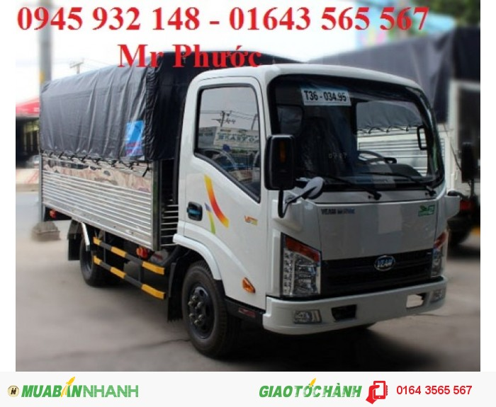 Xe tải VEAM 2.4 tấn, veam vt252 2.4t, xe veam 2.4t vào thành phố