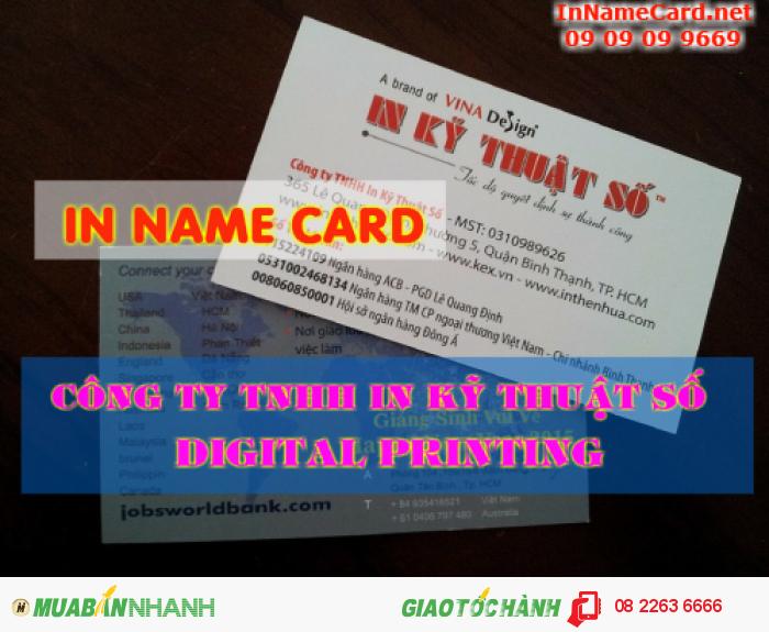 In name card tại thành phố Hồ Chí Minh