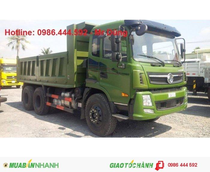 Xe tải ben Dongfeng Trường Giang 3 chân 2 cầu 14 tấn xe mới 2015