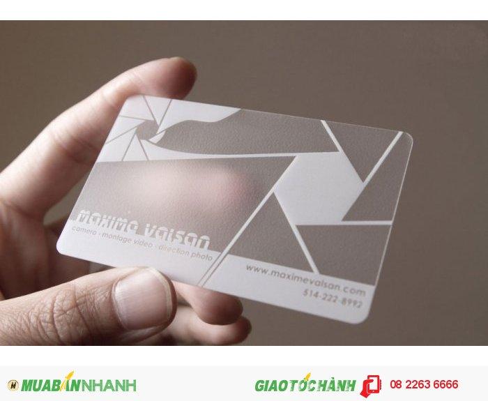 In card visit nhựa trong suốt chuyên nghiệp tại HCM