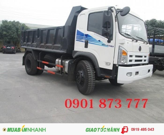 Công ty bán xe ben Dongfeng Trường Giang 7T8 9T2 14T 2 cầu dầu thật, Mua xe ben Dongfeng trả góp