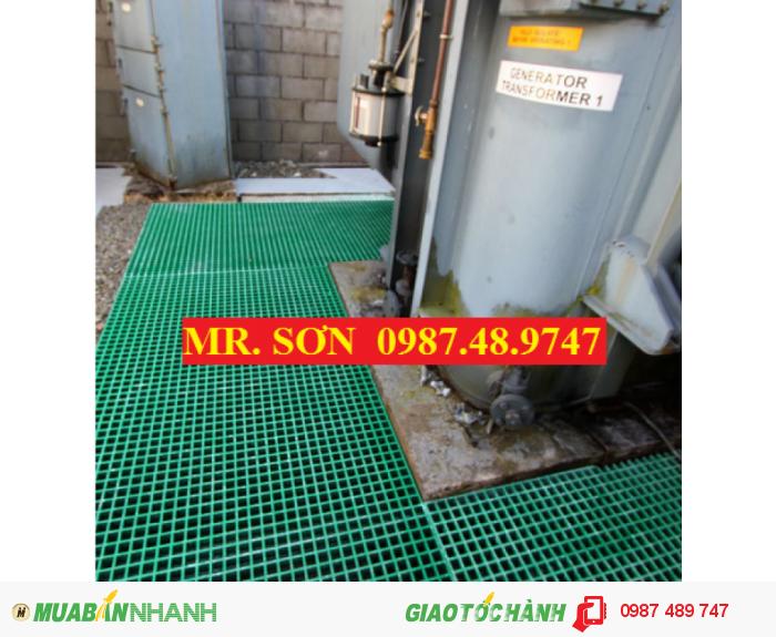 Sàn lưới sợi thủy tinh, tấm đậy mương thoát nước (GRATING)0