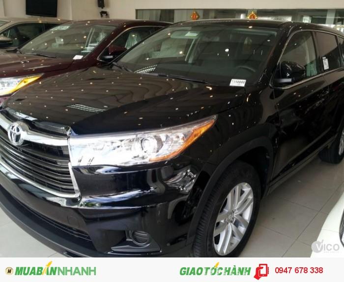 Bán Toyota Highlander 2015 LE màu đen giá tốt nhất 0