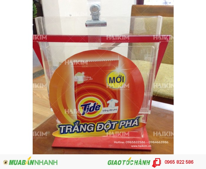 Wobbler quảng cáo, wobbelr thân nhựa của thương hiệu bột giặt Tide1