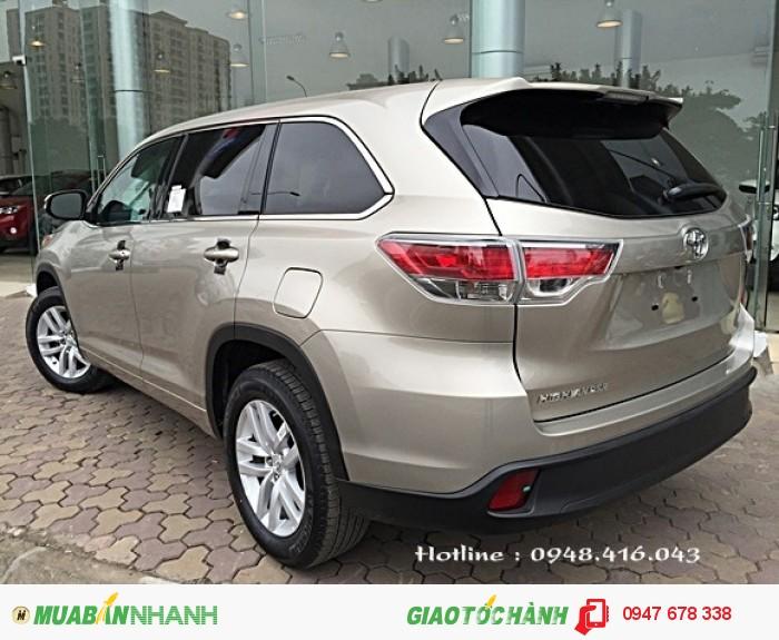 Bán Toyota Highlander 2015 vàng cát giá cực tốt 4