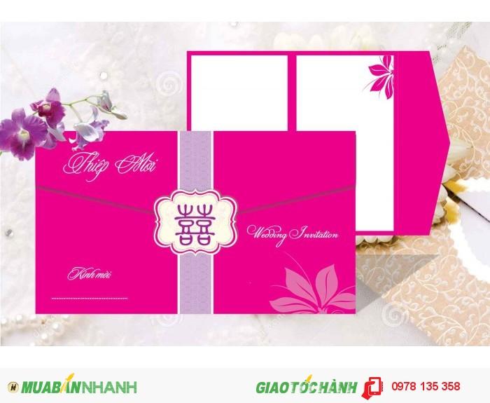 In thiệp cưới giá rẻ, thiết kế miễn phí