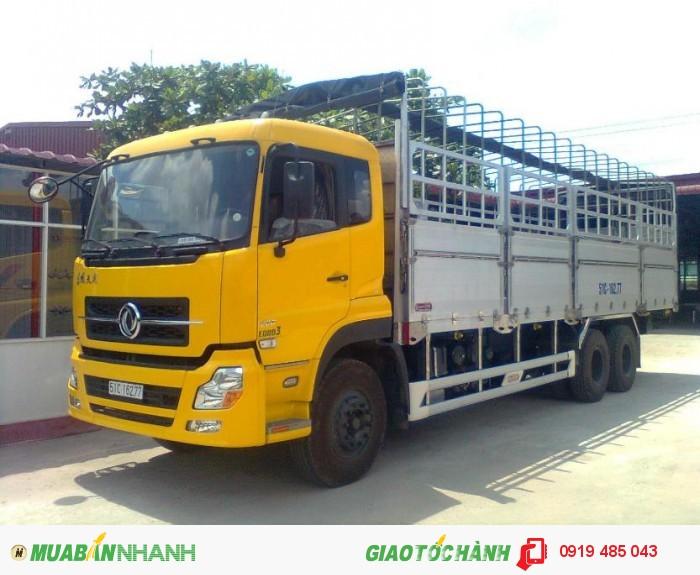 Chuyên bán xe tải Dongfeng Hoàng Huy 3 chân 13 tấn, 4 chân 18 tấn, Mua xe tải Dongfeng 3 giò C260, 4 giò L315 0