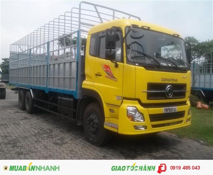 Chuyên bán xe tải Dongfeng Hoàng Huy 3 chân 13 tấn, 4 chân 18 tấn, Mua xe tải Dongfeng 3 giò C260, 4 giò L315 3