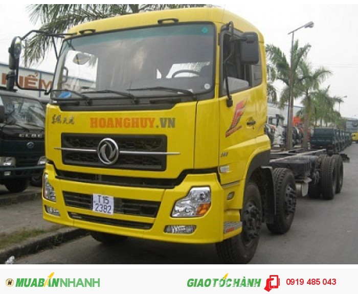 Chuyên bán xe tải Dongfeng Hoàng Huy 3 chân 13 tấn, 4 chân 18 tấn, Mua xe tải Dongfeng 3 giò C260, 4 giò L315 4