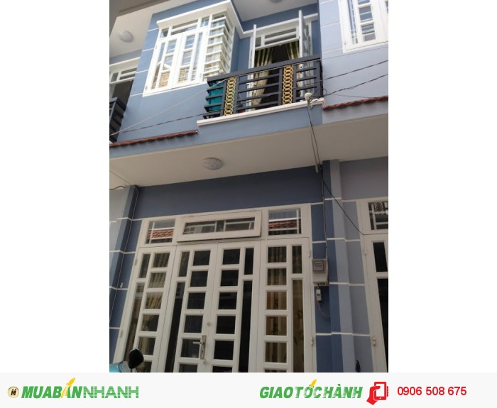 Dãy nhà phố liền kề xây mới tại P.Thạnh Lộc, Q12. Giá 620 triệu – 1 trệt, 1 lầu