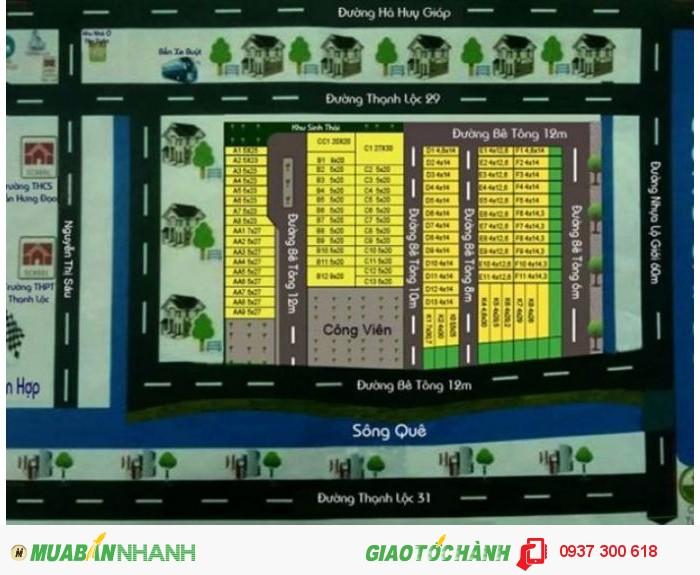 Bán đất nền giá rẻ 623tr diện tích 80m2 tại Thạnh Lộc Quận 12