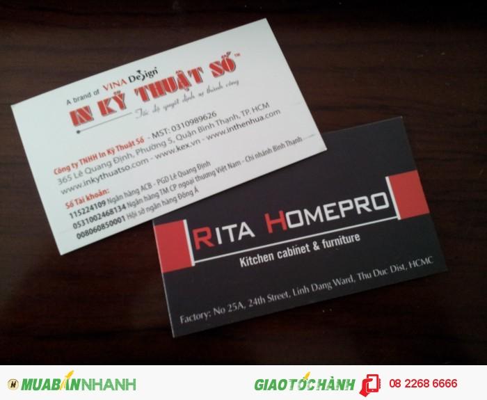 In name card chất lượng cao, giá rẻ tại Bình Thạnh