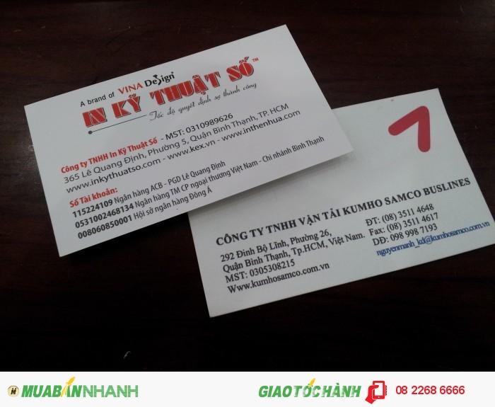In name card giá rẻ - uy tín – uy tín – chất lượng