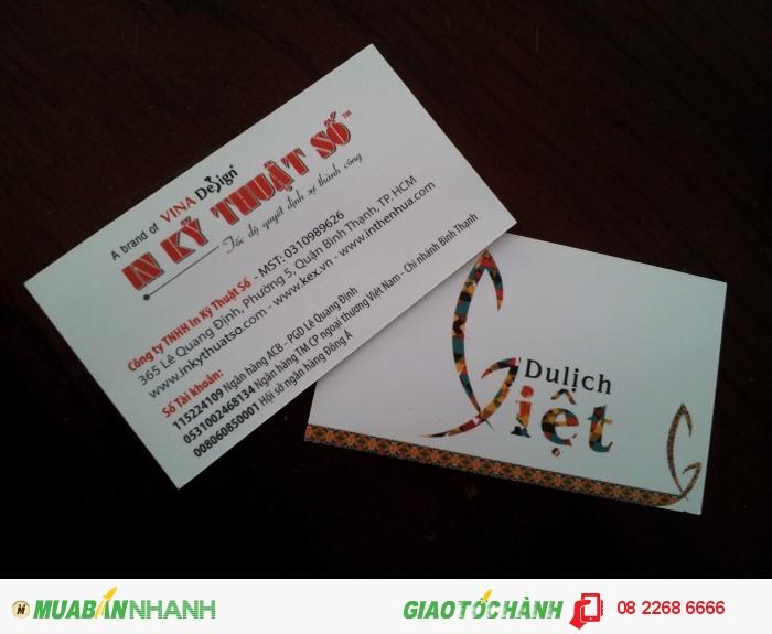 In name card giá rẻ, nhanh chóng, uy tín tại TP.HCM