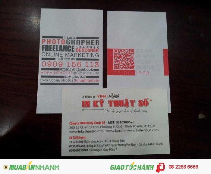 Thiết kế, in ấn name card offset giá rẻ - đẹp – in kỹ thuật số | Thiết kế name card nhựa trong suốt