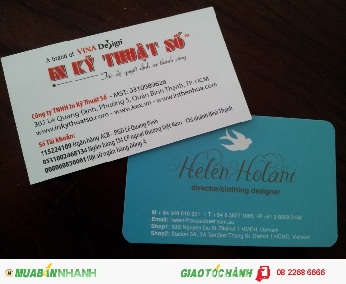In name card offset gá rẻ - in kỹ thuật số