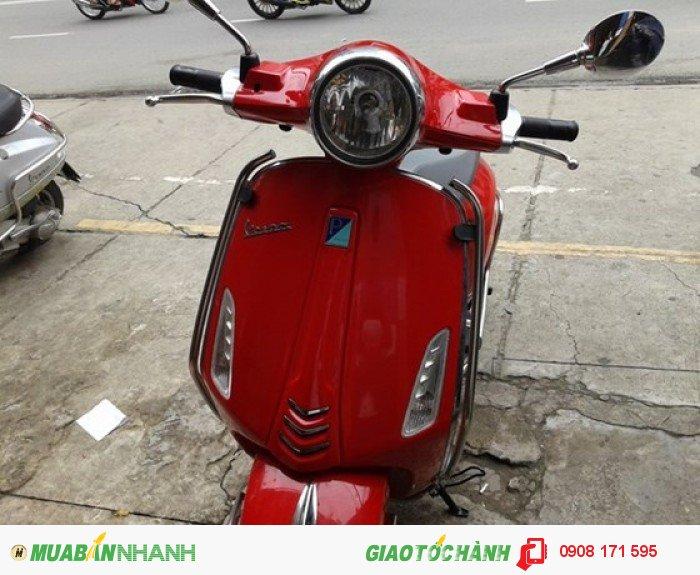 Bán xe Piaggio Vespa Prima Vera 3.V.ie 125cc, đỏ, cuối 2014