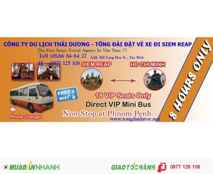 Vé xe đi Siem Reap từ cửa khẩu xa mát