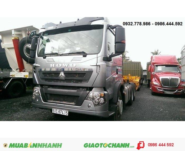Đầu kéo HOWO T5G , 340 mã lưc ( hp ),  đầu cao, sức kéo 40 tấn , giá tốt nhất thị trường