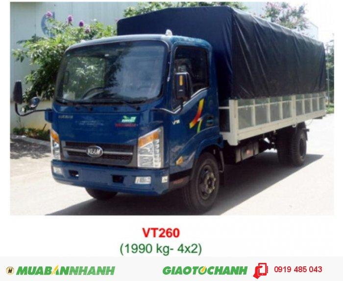 Bán xe tải Veam 1.9 tấn , 2 tấn thùng dài 6m , mua xe tải Veam Vt650 6.5 tấn,  trả góp lãi suất ưu đãi 2
