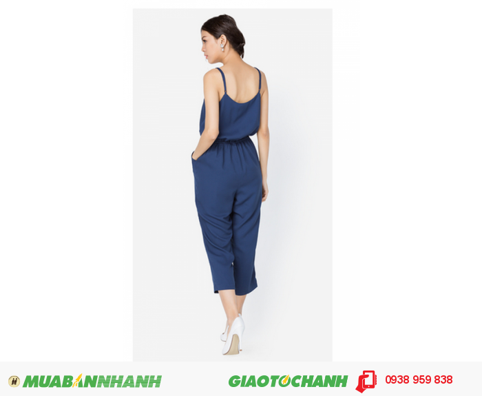 Jumpsuit hai dây xanh đen Anna Collection2