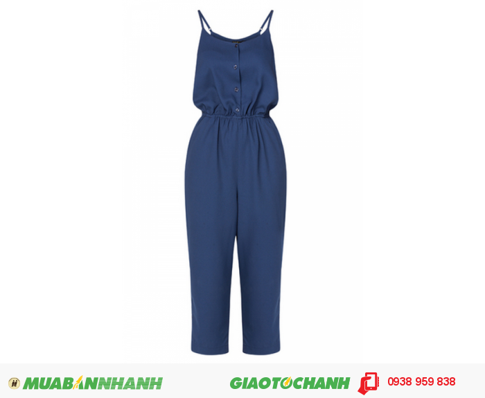 Jumpsuit hai dây xanh đen Anna Collection3