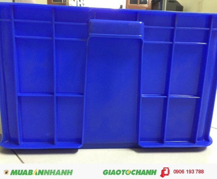 Bán thùng nhựa đặc có nắp KT: 610x420x250 mm