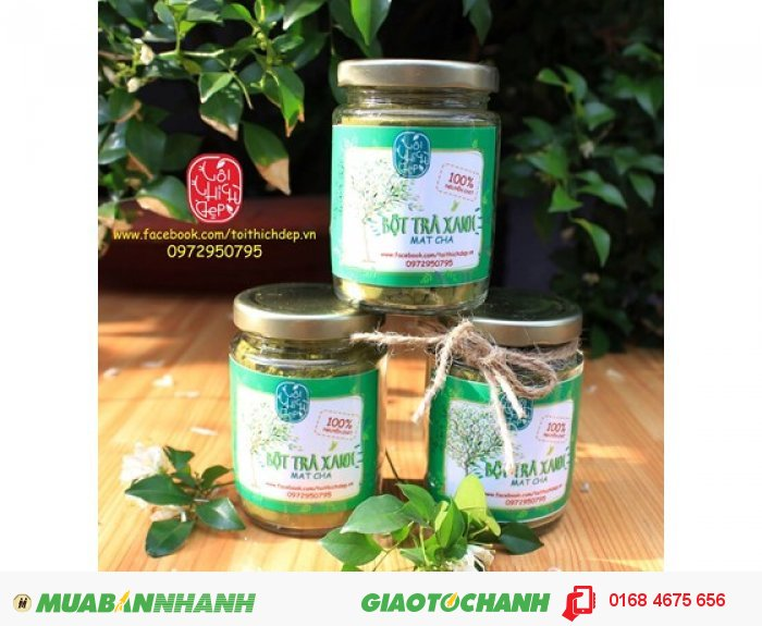 Bột trà xanh Thái Nguyên0